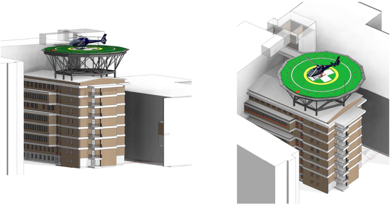 Progetto di realizzazione di un eliporto presso l'Ospedale di Camposampiero (PD)