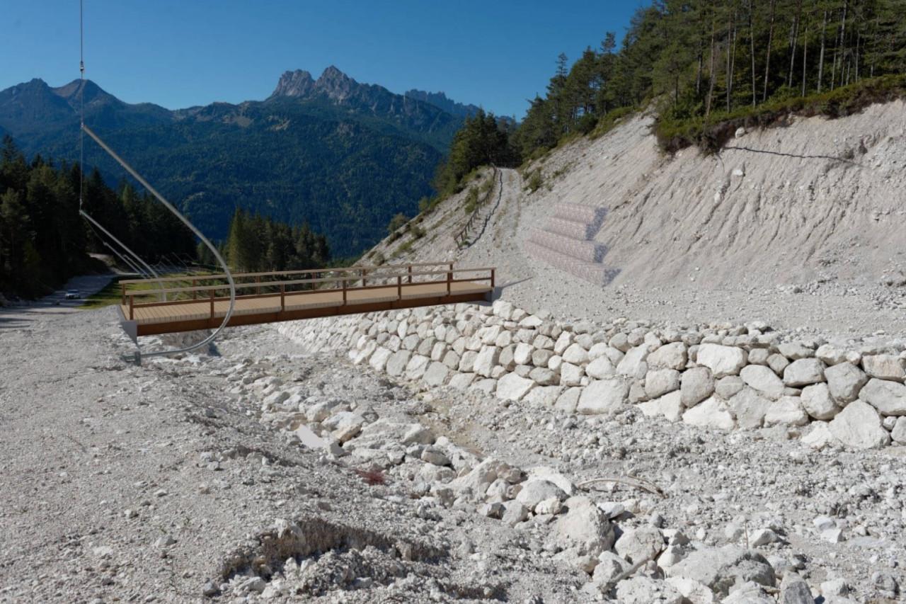 Progetto di ricostruzione del ponte sul torrente Ru Seco San Vito di Cadore