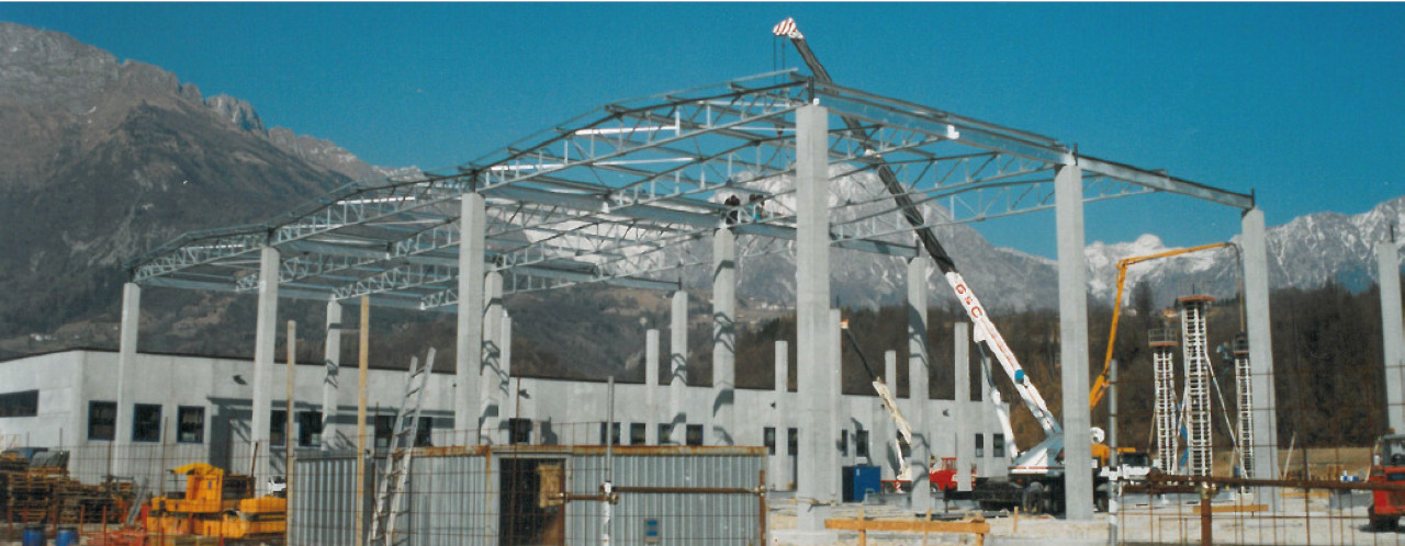 Progetto di costruzione di un magazzino zona industriale di Paludi di Pieve d'Alpago